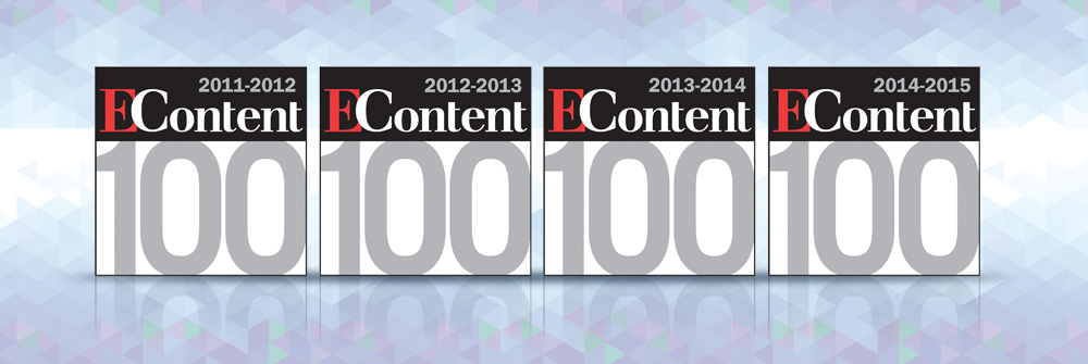 On the <i>EContent</i> 100 list of digital industry companies that matter most!
