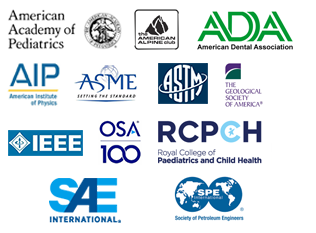 A Sampling of our clients include: ASME, ASTM, Elsevier, HighWire, IEEE, MIT Press, OSA, PubMed, SAE International and Wiley