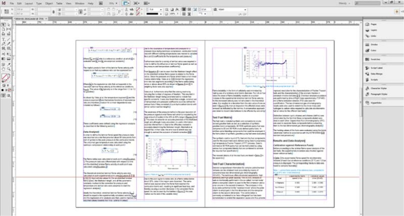 Fig. 2 - InDesign file created by new process